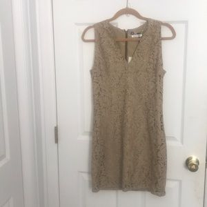 MSGM Beige Lace Dress